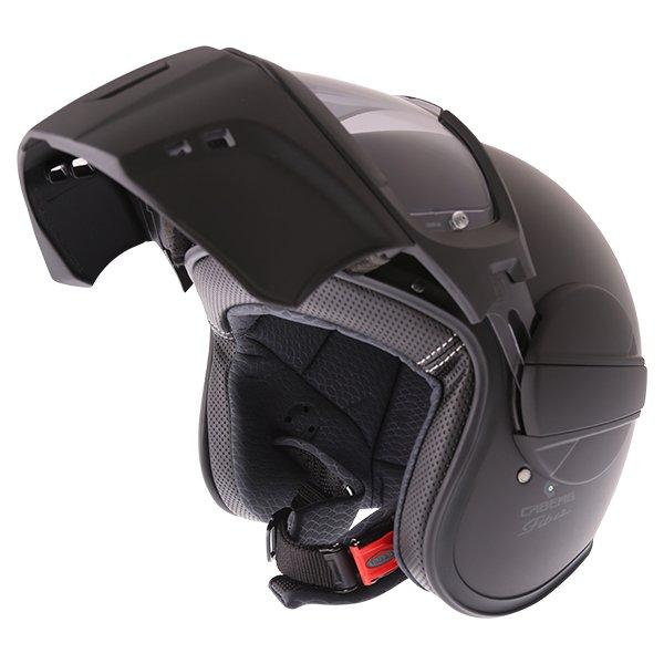 Caberg Ghost Matt Black Motorcycle Helmet Flip Open
