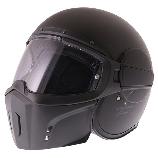 Caberg Ghost Matt Black Motorcycle Helmet Front Left