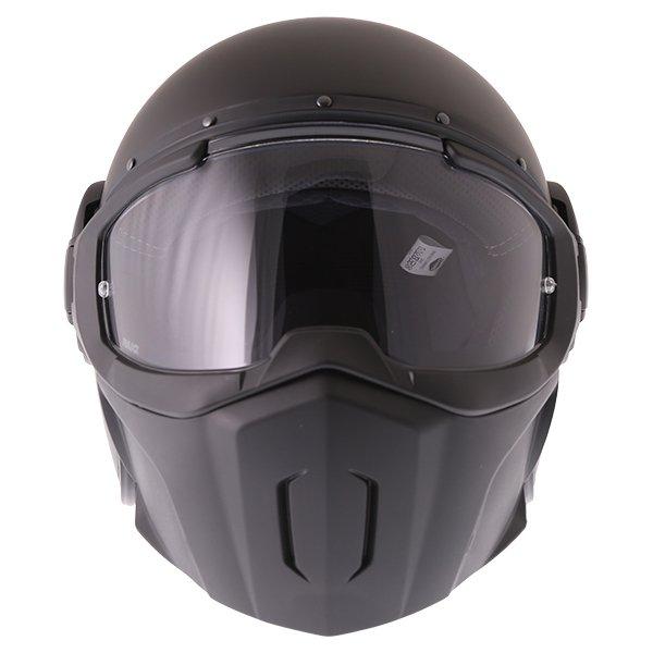 Caberg Ghost Matt Black Motorcycle Helmet Front