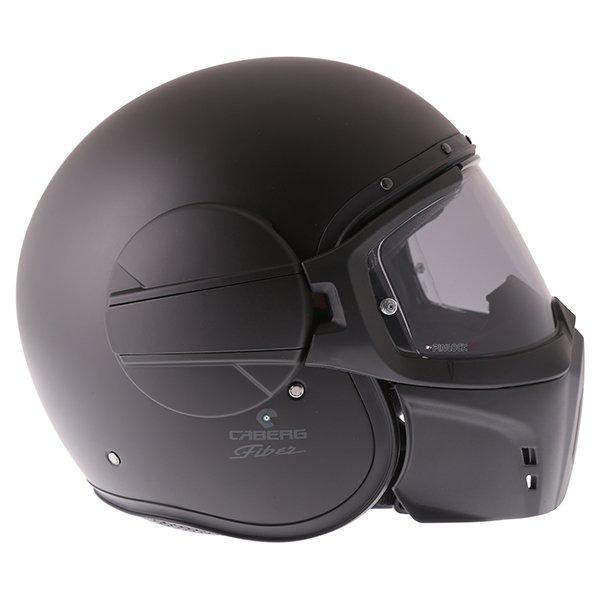 Caberg Ghost Matt Black Motorcycle Helmet Right Side