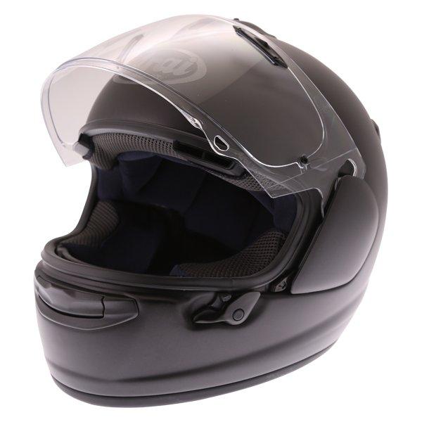 Arai Chaser-X Frost Black Full Face Motorcycle Helmets Open Visor