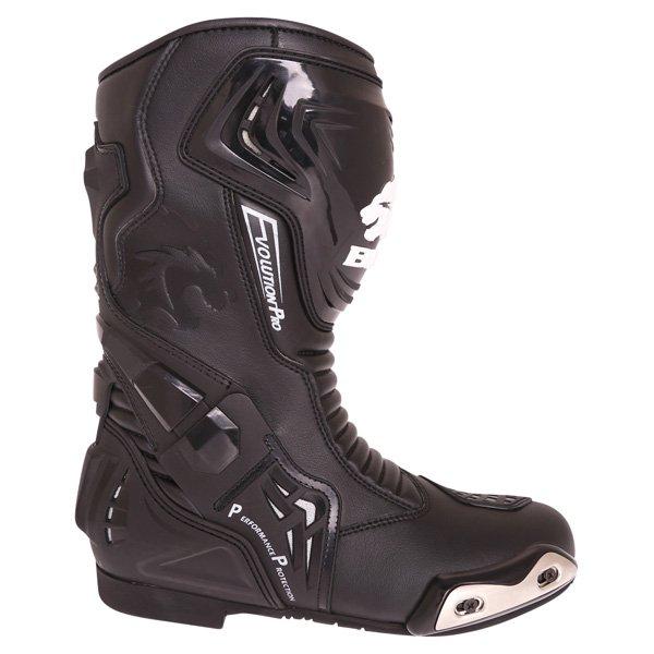 BKS Evolution Pro Black Motorcycle Boots Outside leg