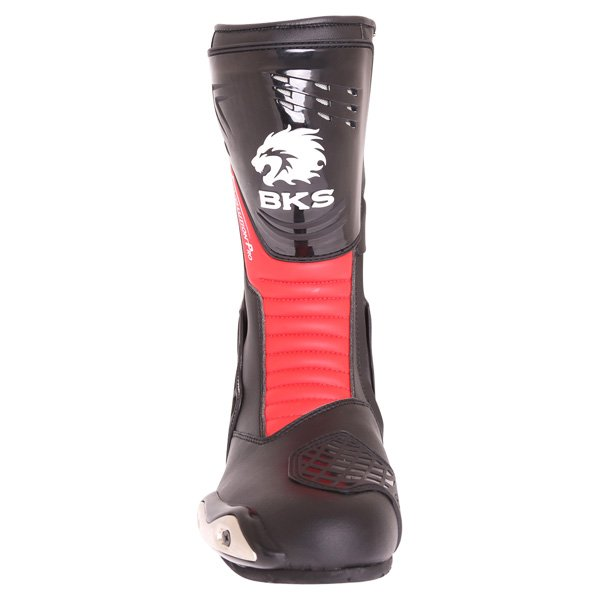 BKS Evolution Pro Black Red Motorcycle Boots Front
