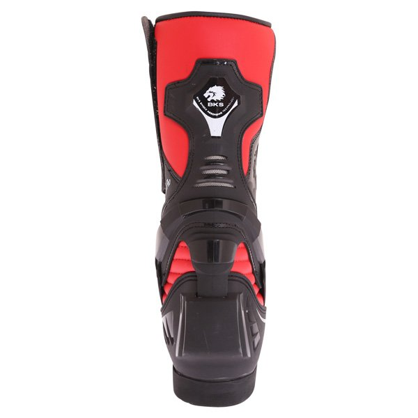 BKS Evolution Pro Black Red Motorcycle Boots Heel