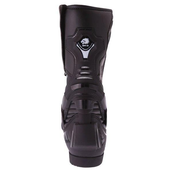 BKS Evolution Pro Black Waterproof Motorcycle Boots Heel