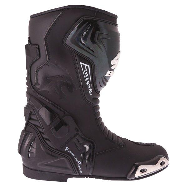 BKS Evolution Pro Black Waterproof Motorcycle Boots Outside leg