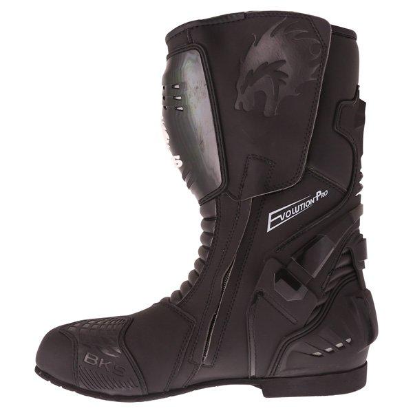 BKS Evolution Pro Black Waterproof Motorcycle Boots Inside leg