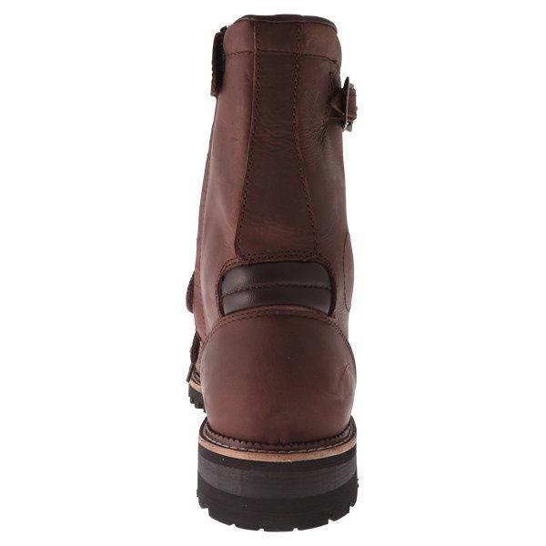 Spada Pilgrim Grande Brown Waterproof Motorcycle Boots Heel