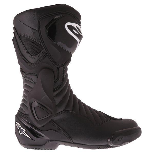 Alpinestars SMX-6 V2 Black Motorcycle Boots Heel