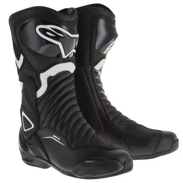Alpinestars SMX-6 V2 Boots Black White Mens - 4 - EU 37