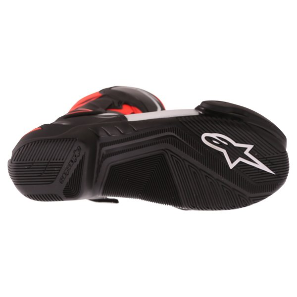 Alpinestars SMX-6 V2 Black Red Fluo White Motorcycle Boots Sole