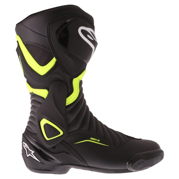 Alpinestars SMX-6 V2 Black Fluo Yellow Motorcycle Boots Outside leg