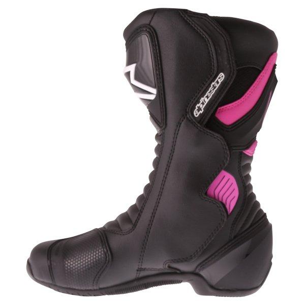 Alpinestars Stella SMX-6 V2 Black Fuchsia White Ladies Motorcycle Boots Inside leg