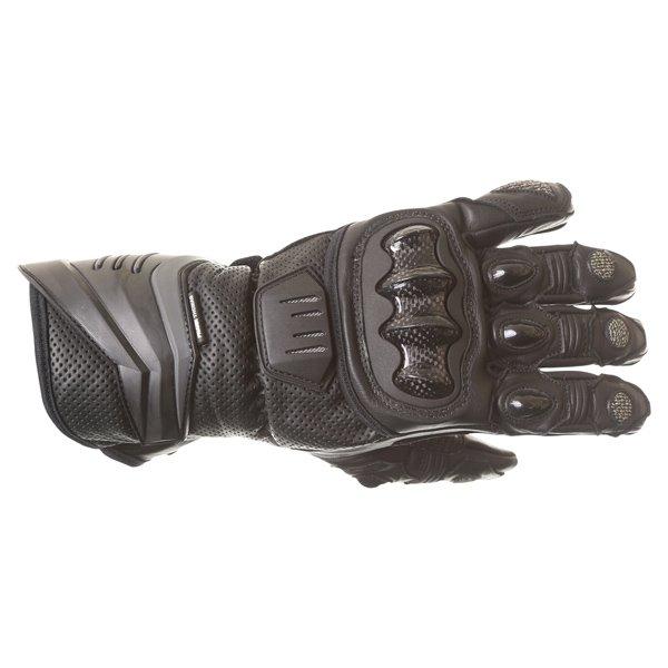 Frank Thomas Dynamic Black Motorcycle Gloves Back