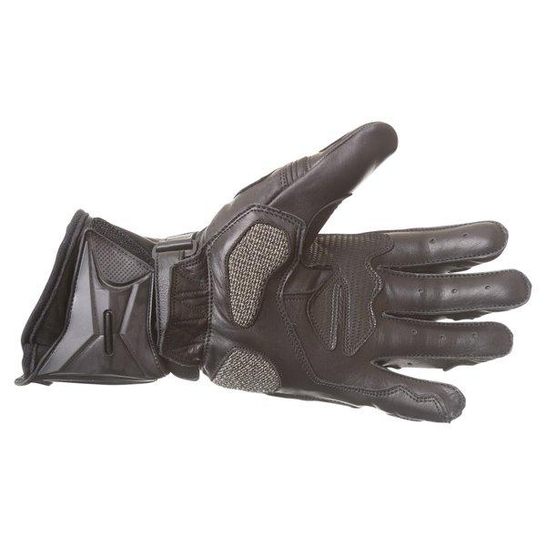 Frank Thomas Dynamic Black Motorcycle Gloves Palm
