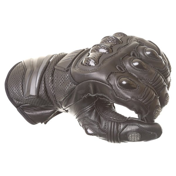 Frank Thomas Dynamic Black Motorcycle Gloves Knuckle