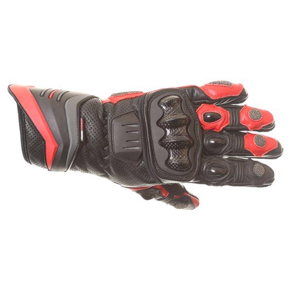 Frank Thomas Dynamic Black Red Motorcycle Gloves Back