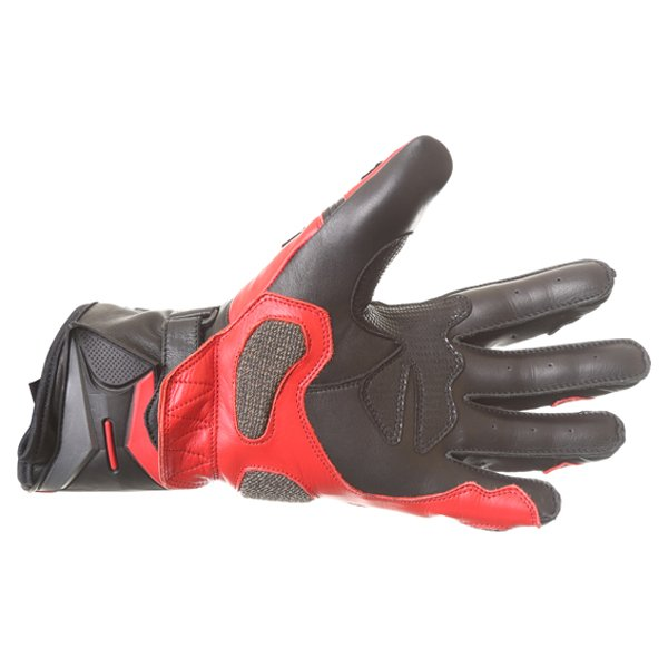 Frank Thomas Dynamic Black Red Motorcycle Gloves Palm