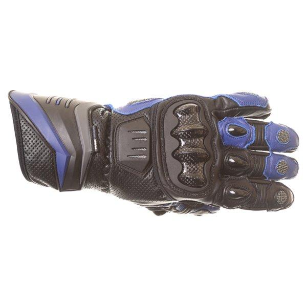 Frank Thomas Dynamic Black Blue Motorcycle Gloves Back