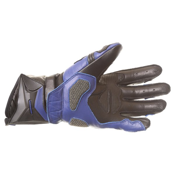Frank Thomas Dynamic Black Blue Motorcycle Gloves Palm