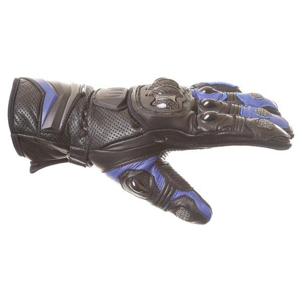 Frank Thomas Dynamic Black Blue Motorcycle Gloves Thumb side