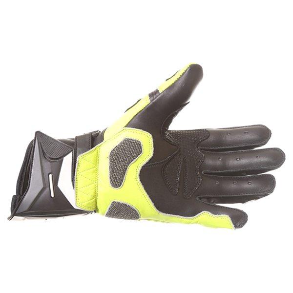 Frank Thomas Dynamic Black Yellow Motorcycle Gloves Palm