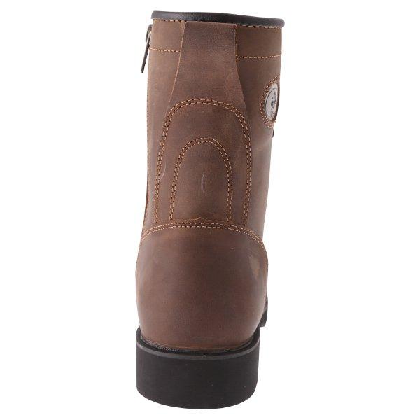 BKS Tornado Brown Waterproof Motorcycle Boots Heel