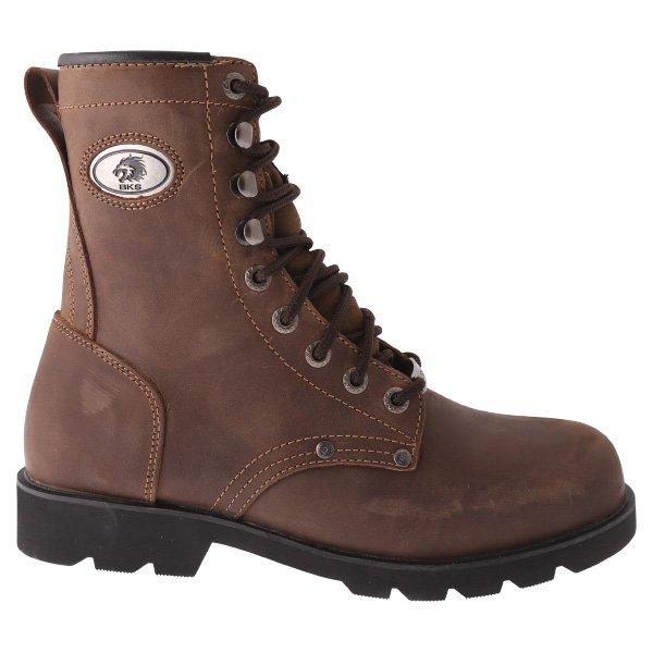 BKS Tornado Brown Waterproof Motorcycle Boots Outside Leg