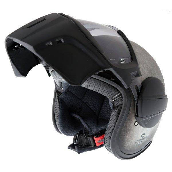 Caberg Ghost Iron Motorcycle Helmet Flip Open