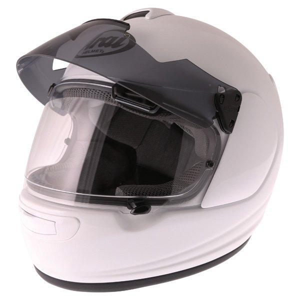 Arai Chaser-V Pro Diamond White Full Face Motorcycle Helmet Sun Visor Up