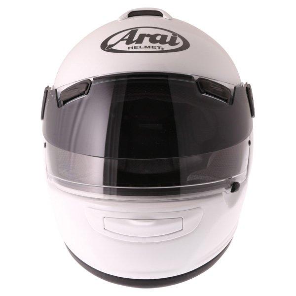 Arai Chaser-V Pro Diamond White Full Face Motorcycle Helmet Front