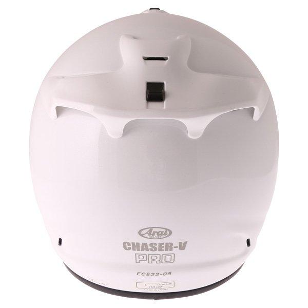 Arai Chaser-V Pro Diamond White Full Face Motorcycle Helmet Back