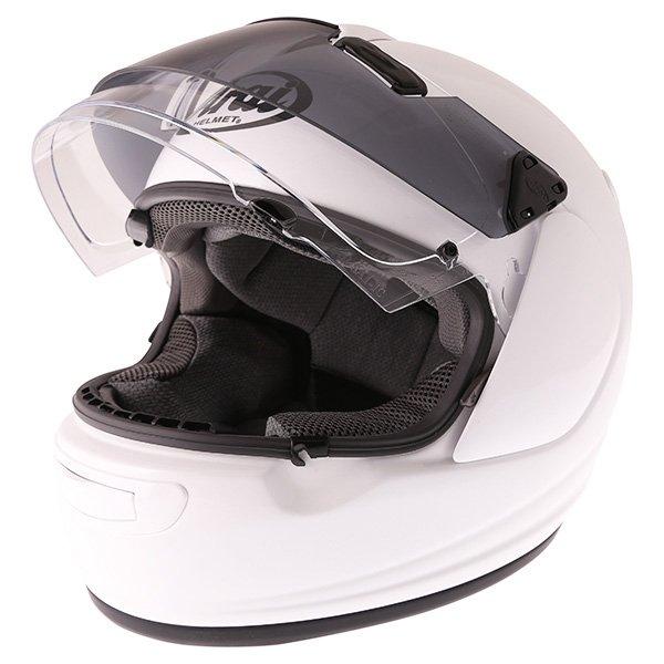 Arai Chaser-V Pro Diamond White Full Face Motorcycle Helmet Open