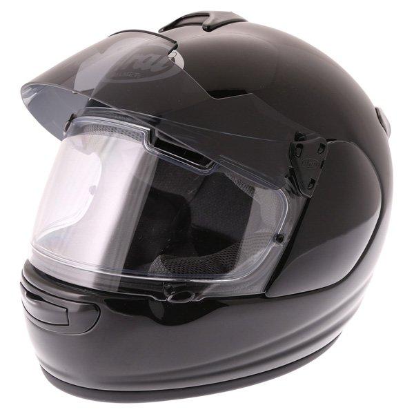 Arai Chaser-V Pro Diamond Black Full Face Motorcycle Helmet Sun Visor Up