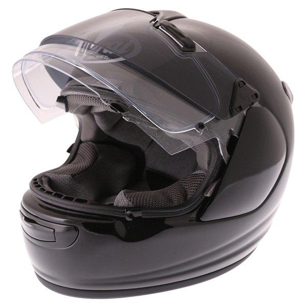 Arai Chaser-V Pro Diamond Black Full Face Motorcycle Helmet Open