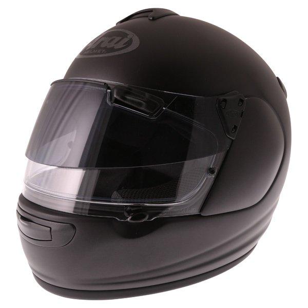 Arai Chaser-V Pro Frost Black Full Face Motorcycle Helmet Front Left