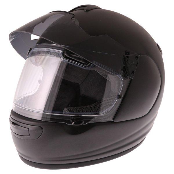 Arai Chaser-V Pro Frost Black Full Face Motorcycle Helmet Sun Visor Up
