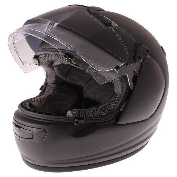 Arai Chaser-V Pro Frost Black Full Face Motorcycle Helmet Open