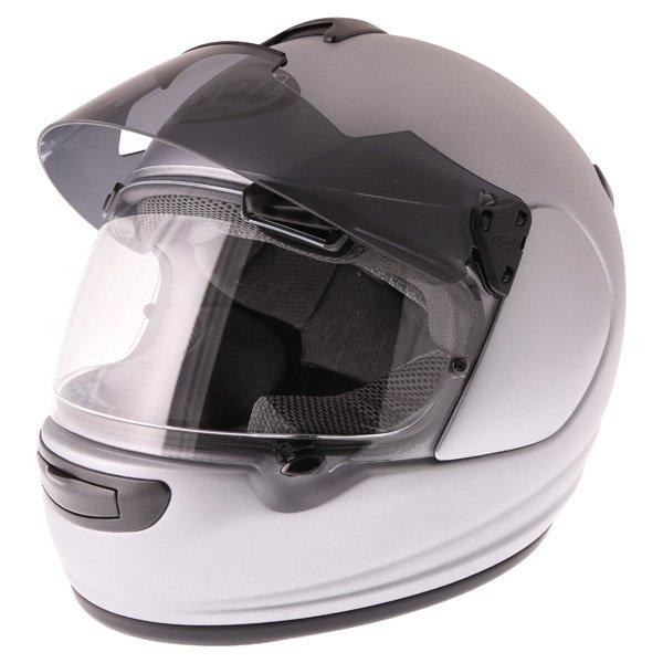 Arai Chaser-V Pro Tour Frost Grey Full Face Motorcycle Helmet Sun Visor Up