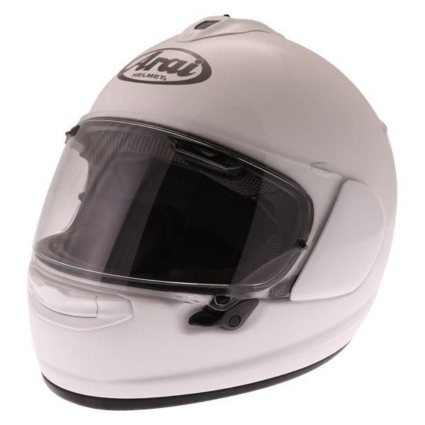 Arai Chaser-X Diamond White Full Face Motorcycle Helmet Front Left