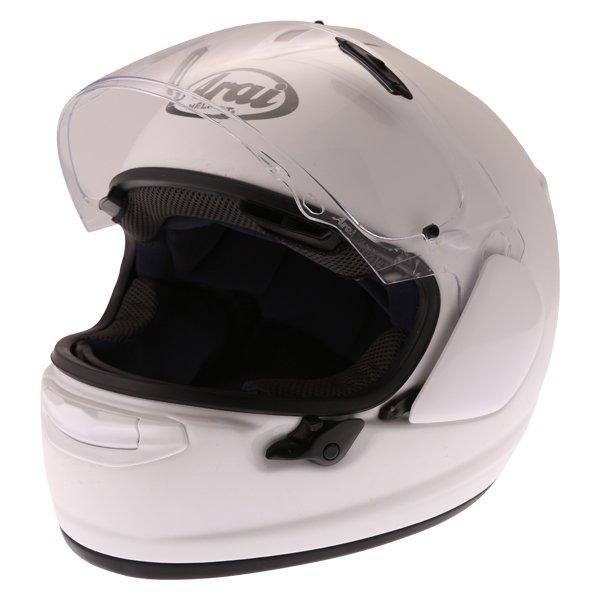Arai Chaser-X Diamond White Full Face Motorcycle Helmet Open Visor