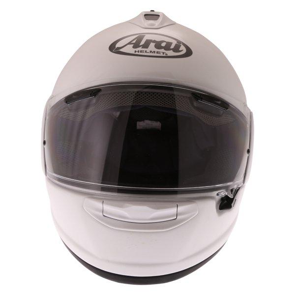 Arai Chaser-X Diamond White Full Face Motorcycle Helmet Front