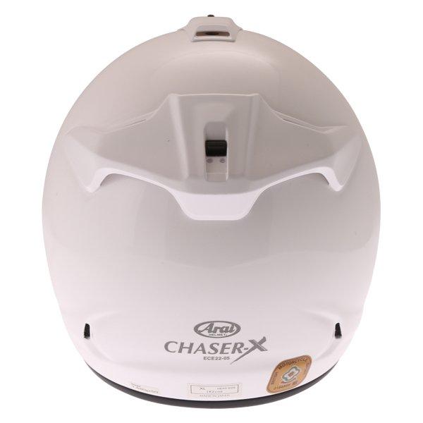 Arai Chaser-X Diamond White Full Face Motorcycle Helmet Back