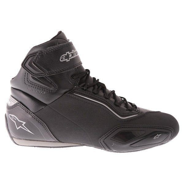 Alpinestars Faster-2 Black Gun Metal Waterproof motorcycle Shoe Outside leg