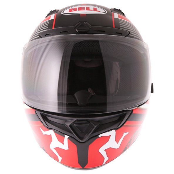 Bell Qualifier DLX Black Red IOM Full Face Motorcycle Helmet Front