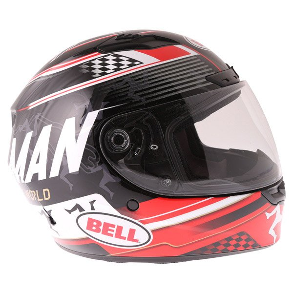 Bell Qualifier DLX Black Red IOM Full Face Motorcycle Helmet Right Side