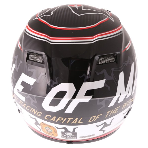 Bell Qualifier DLX Black Red IOM Full Face Motorcycle Helmet Back