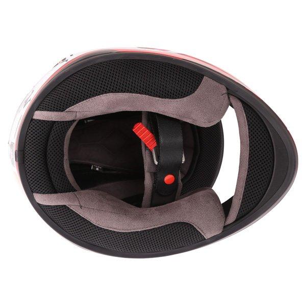 Bell Qualifier DLX Black Red IOM Full Face Motorcycle Helmet Inside