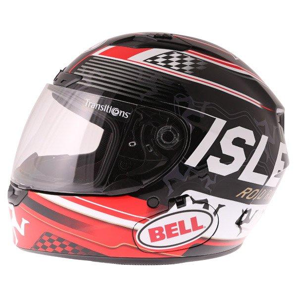 Bell Qualifier DLX Black Red IOM Full Face Motorcycle Helmet Left Side