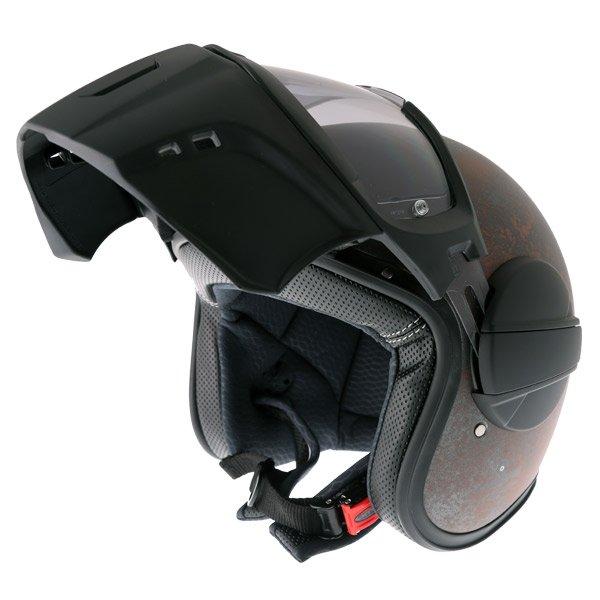 Caberg Ghost Rusty Motorcycle Helmet Flip Open